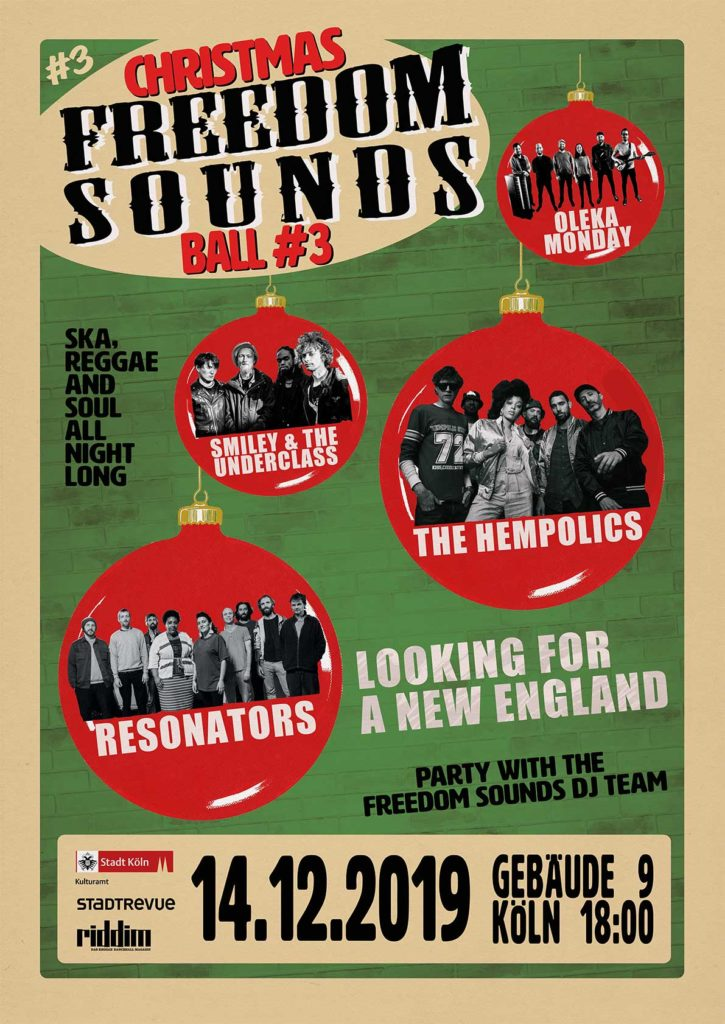 plakat Christmas Freedom Sounds Ball