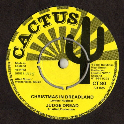 "Judge Dread - ""Christmas In Dreadland / Come Outside"""