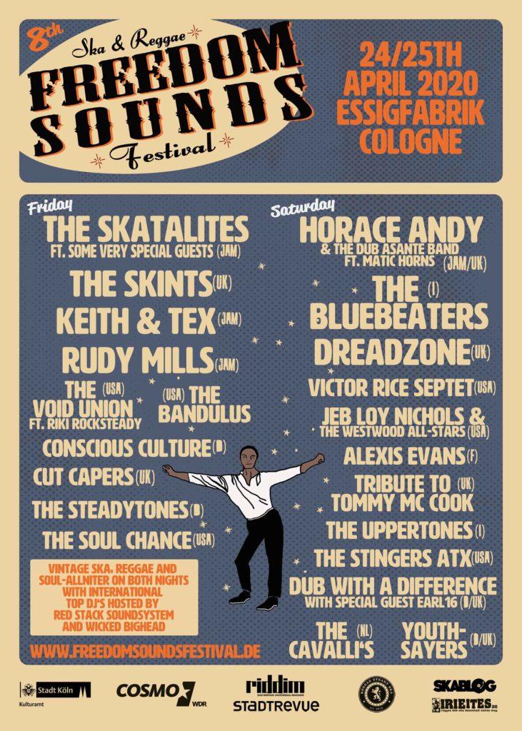 plakat festiwalu Freedom Sounds 2020