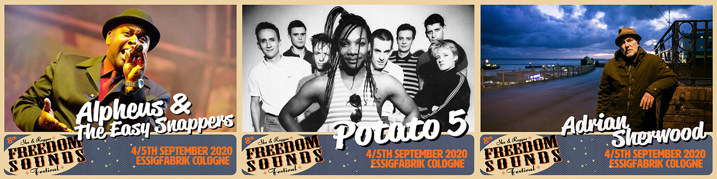 Freedom Sounds Festival promo photo Alpheus, Potato 5, Adrian Sherwood