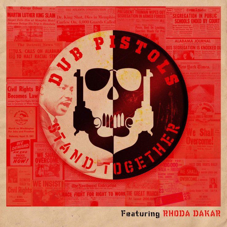 "Grafika promująca singiel ""Stand Together Dub Pistols i Rhody Dakar"
