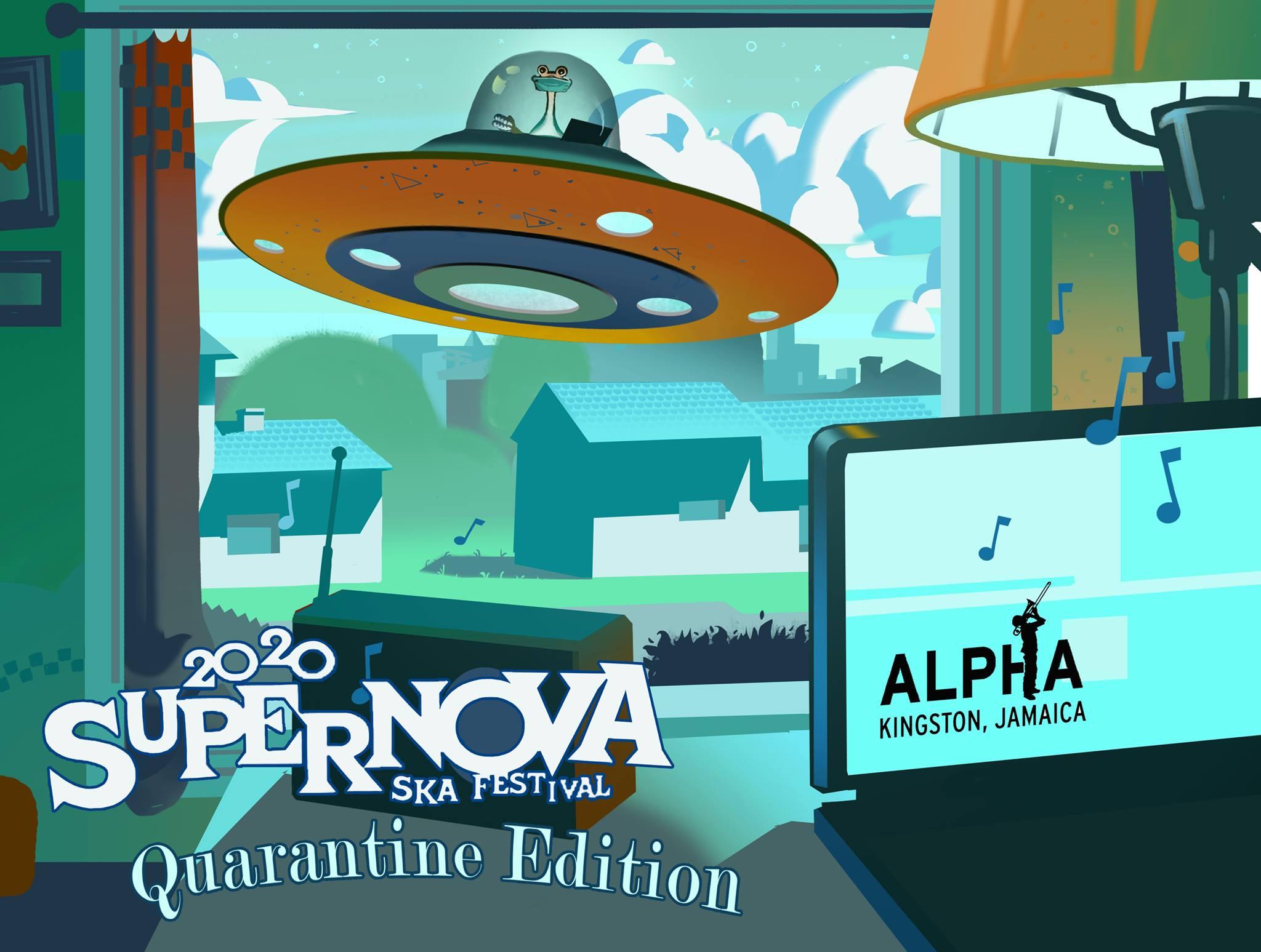 Grafika promująca festiwal Supernova