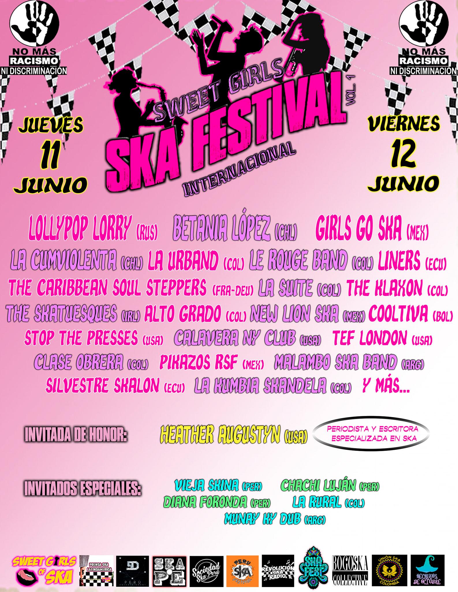 Plakat festiwalu Sweet Girls Ska Festival