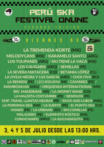 plakat z pierwszego dnia festiwalu Peru Ska Online