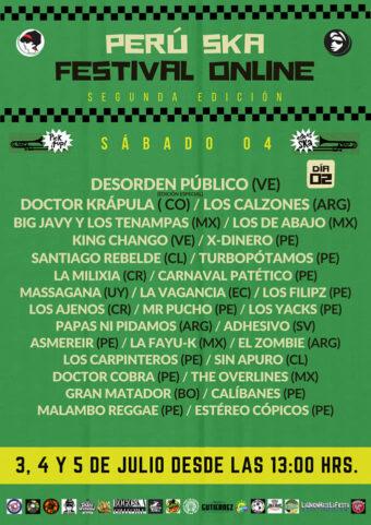 plakat z drugiego dnia festiwalu Peru Ska Online