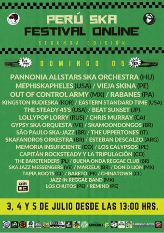 plakat trzeciego dnia festiwalu Peru Ska Online