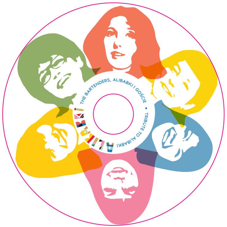 Grafika na płycie CD Tribute to Alibabki